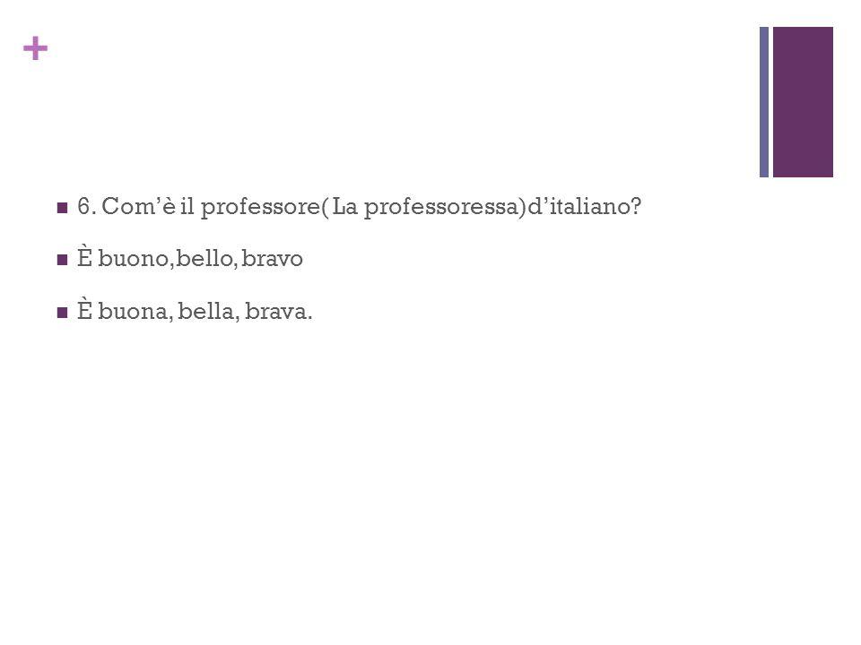6. Com'è il professore( La professoressa)d'italiano