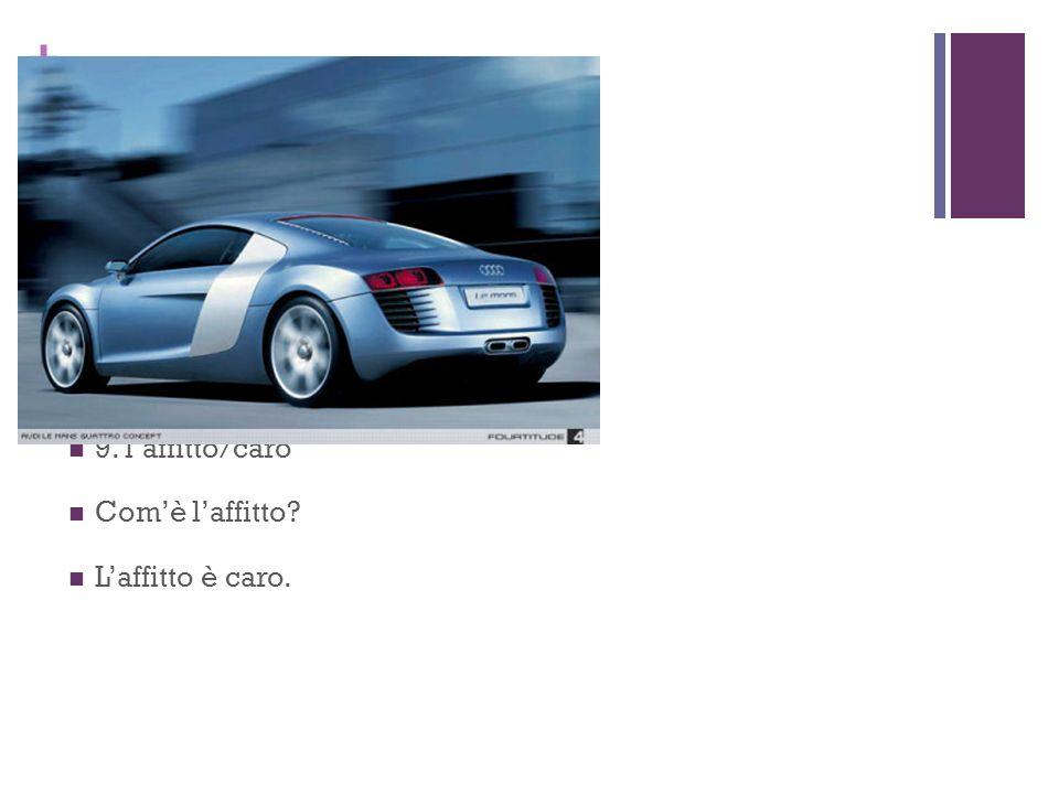 8. la macchina/nuovo/tedesco