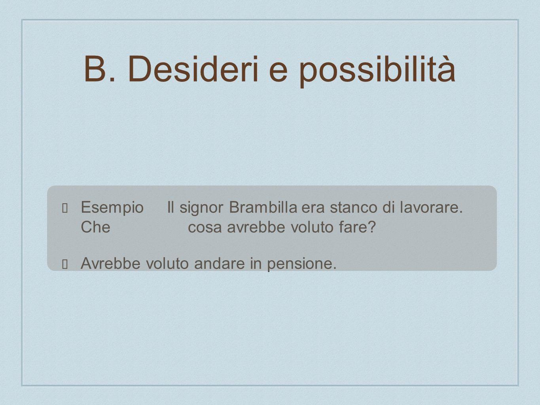 B. Desideri e possibilità