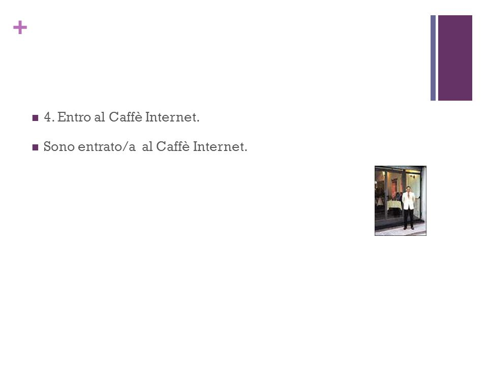 4. Entro al Caffè Internet.