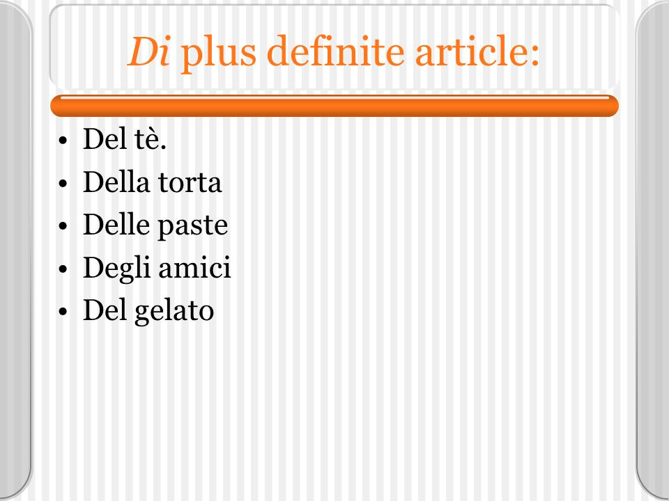 Di plus definite article: