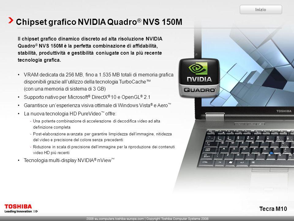 Chipset grafico NVIDIA Quadro® NVS 150M