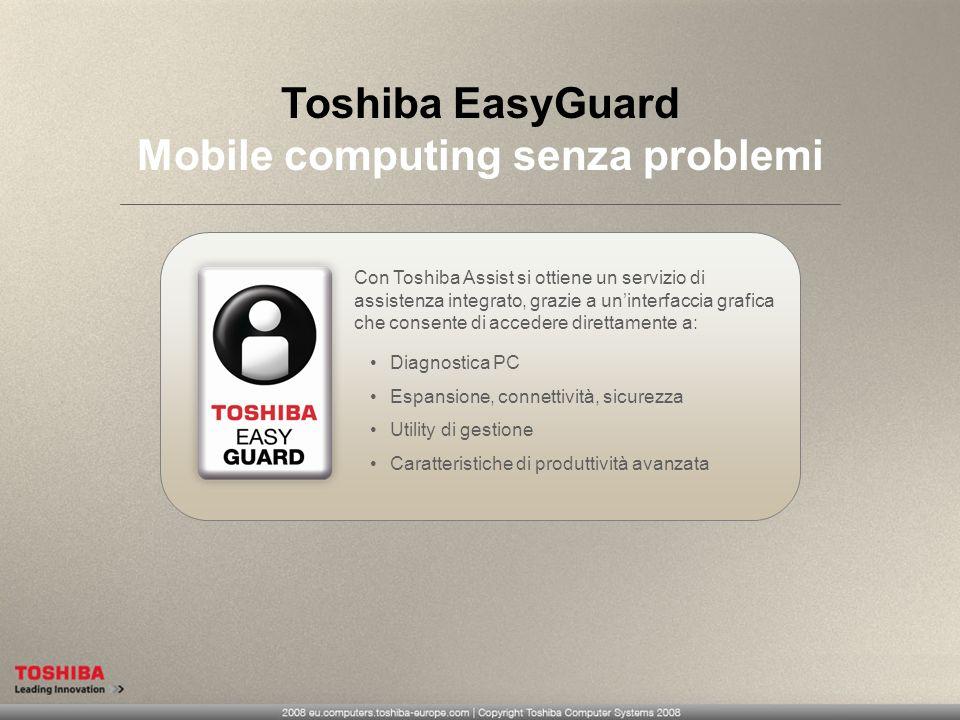 Toshiba EasyGuard Mobile computing senza problemi