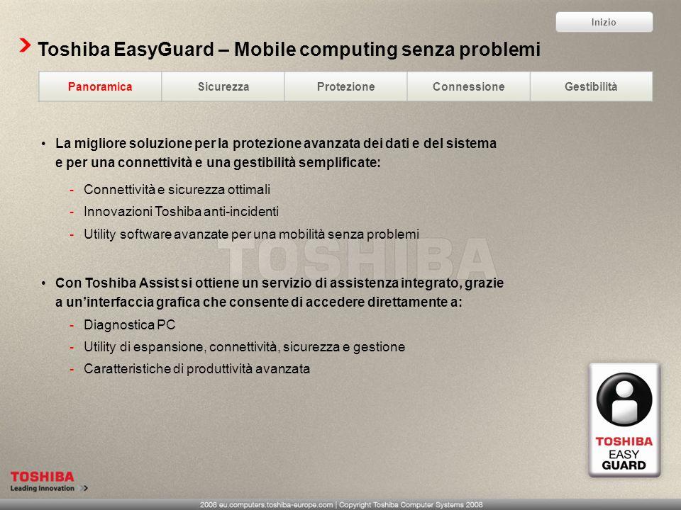 Toshiba EasyGuard – Mobile computing senza problemi