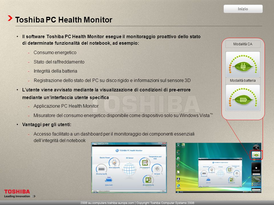 Toshiba PC Health Monitor