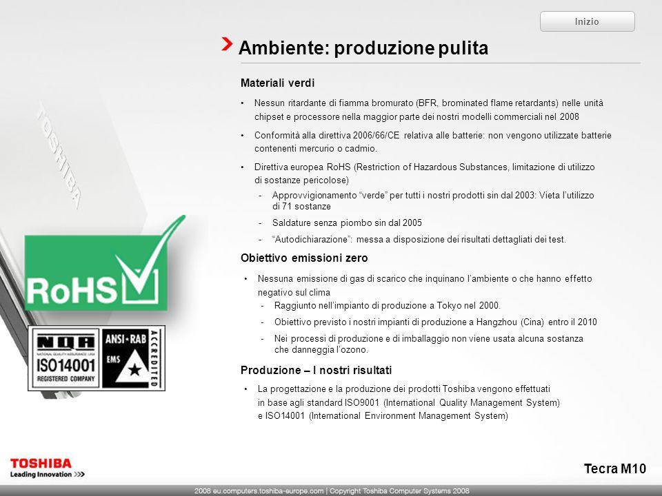 Ambiente: produzione pulita