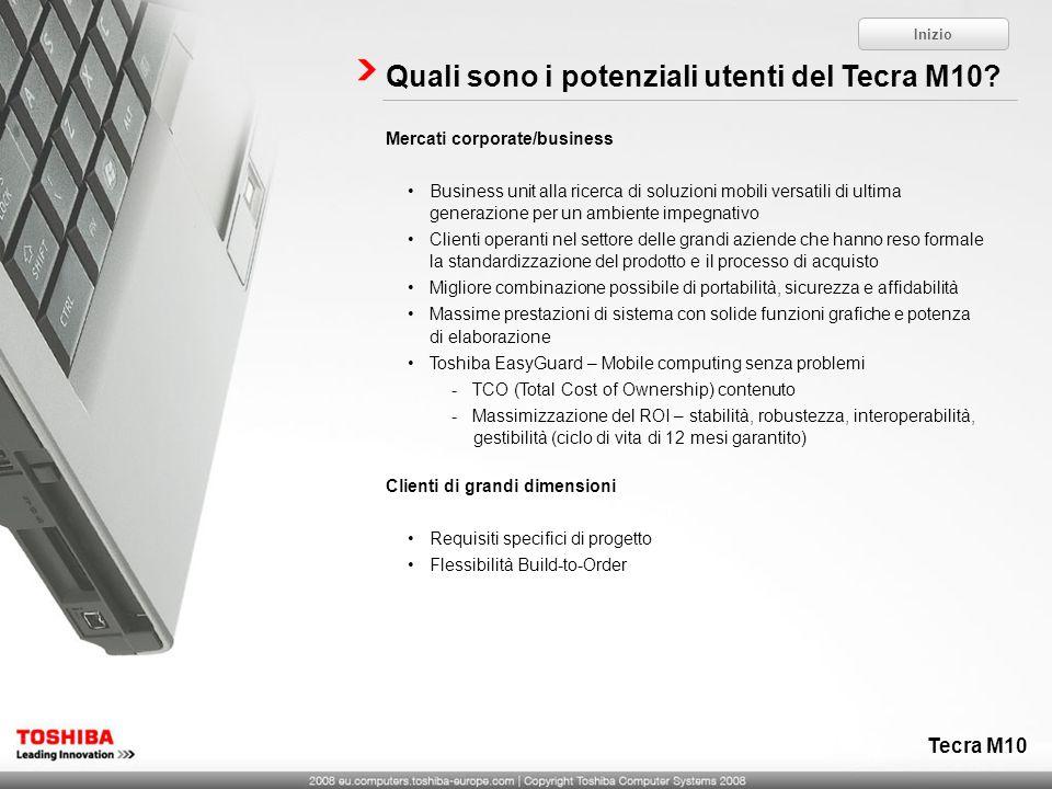 Quali sono i potenziali utenti del Tecra M10