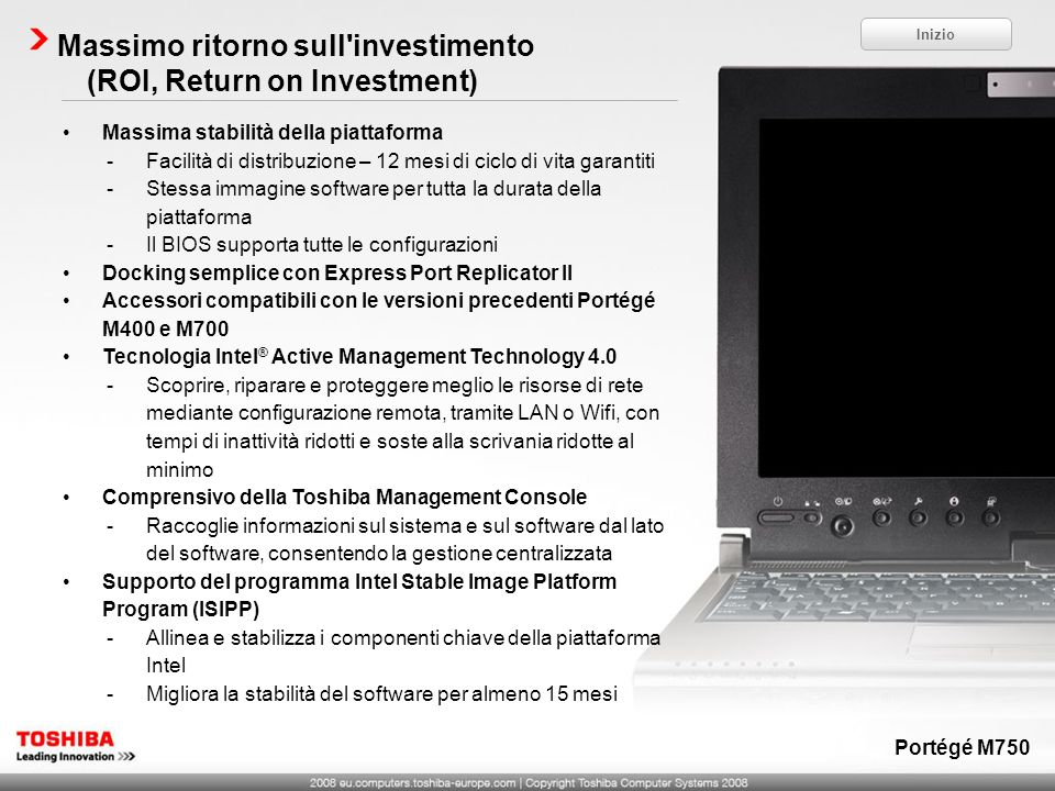 Massimo ritorno sull investimento (ROI, Return on Investment)