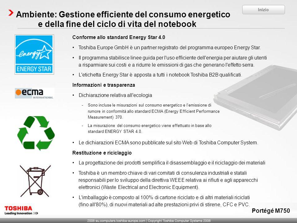 InizioAmbiente: Gestione efficiente del consumo energetico e della fine del ciclo di vita del notebook.