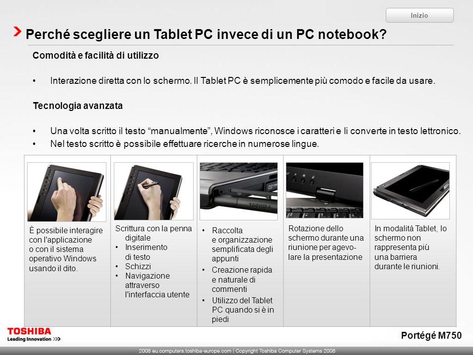 Perché scegliere un Tablet PC invece di un PC notebook