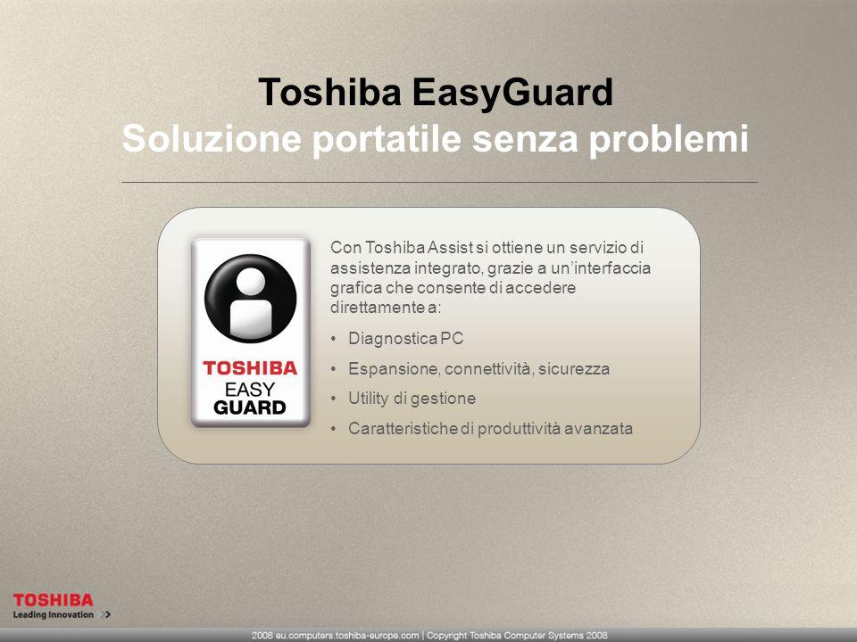Toshiba EasyGuard Soluzione portatile senza problemi