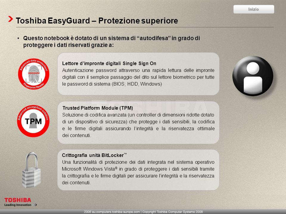 Toshiba EasyGuard – Protezione superiore