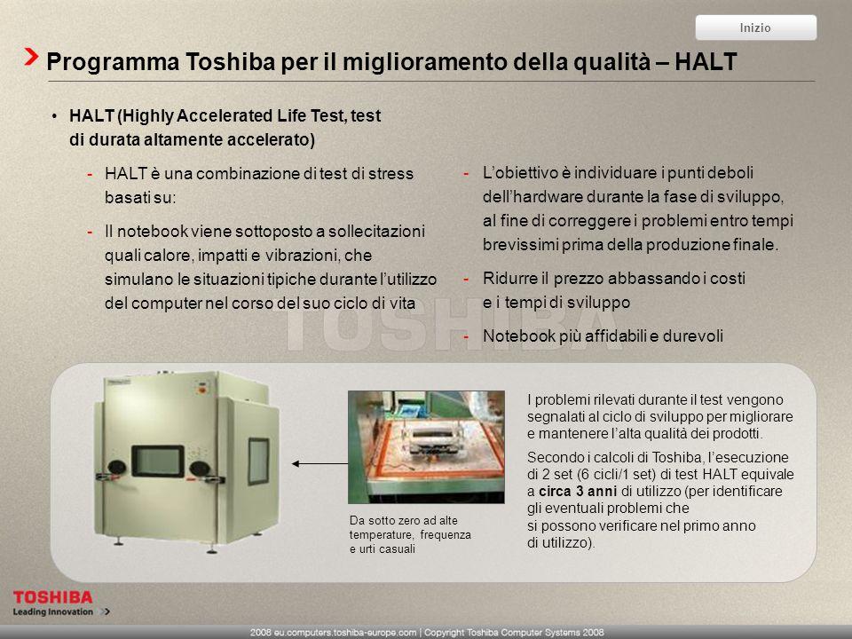Programma Toshiba per il miglioramento della qualità – HALT