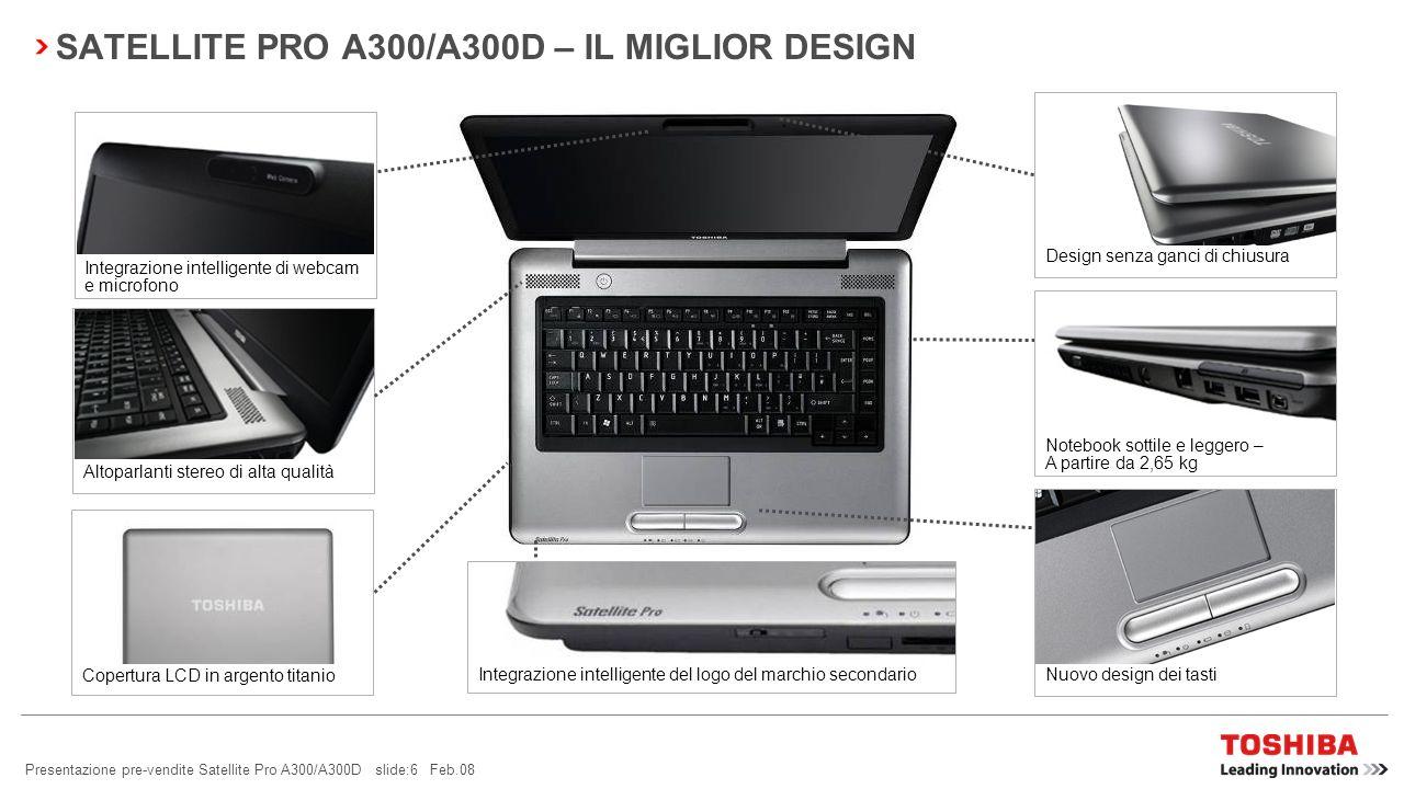 SATELLITE PRO A300/A300D – IL MIGLIOR DESIGN