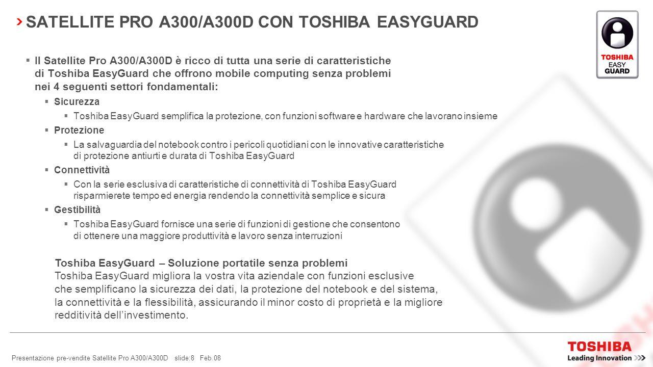 SATELLITE PRO A300/A300D CON TOSHIBA EASYGUARD
