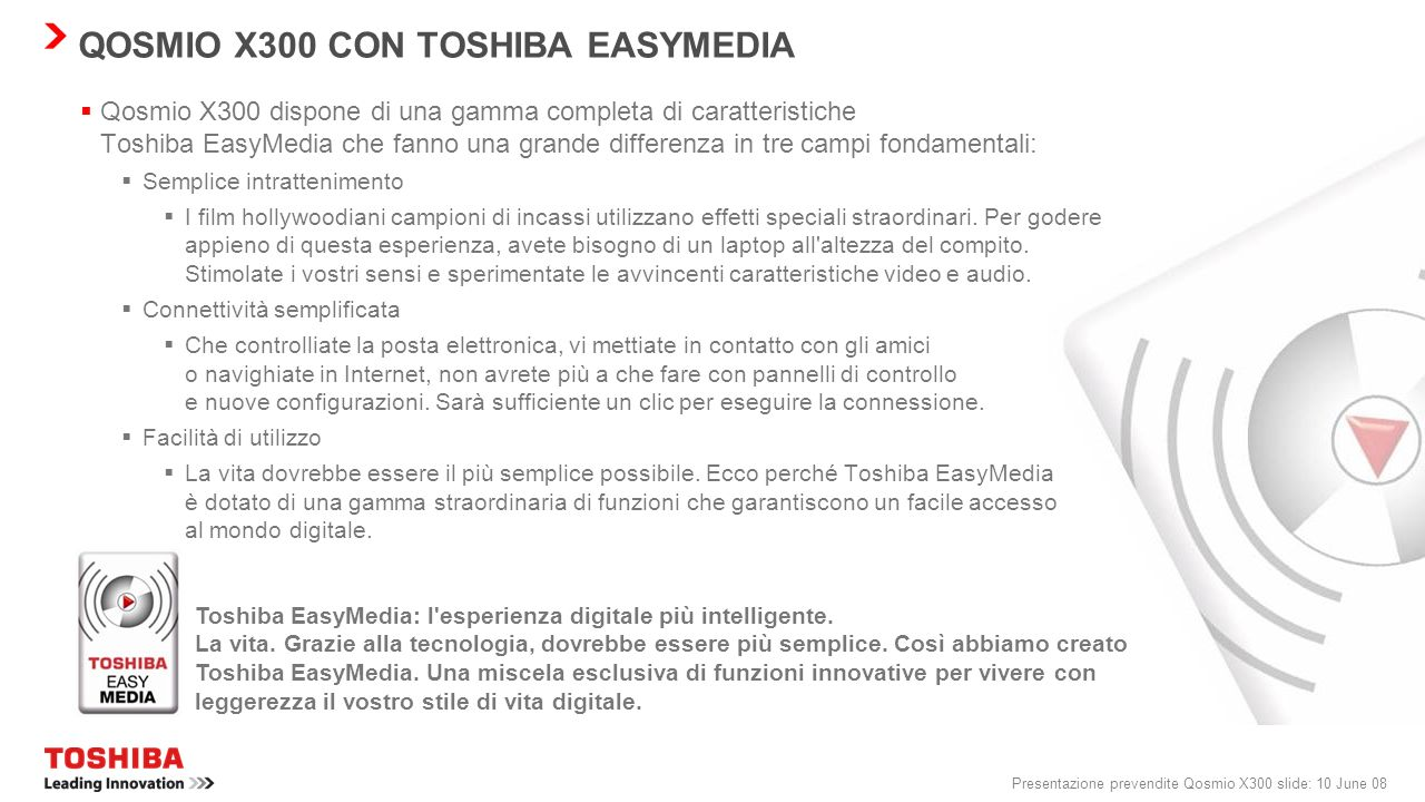 QOSMIO X300 CON TOSHIBA EASYMEDIA