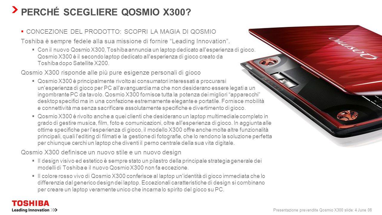 PERCHÉ SCEGLIERE QOSMIO X300