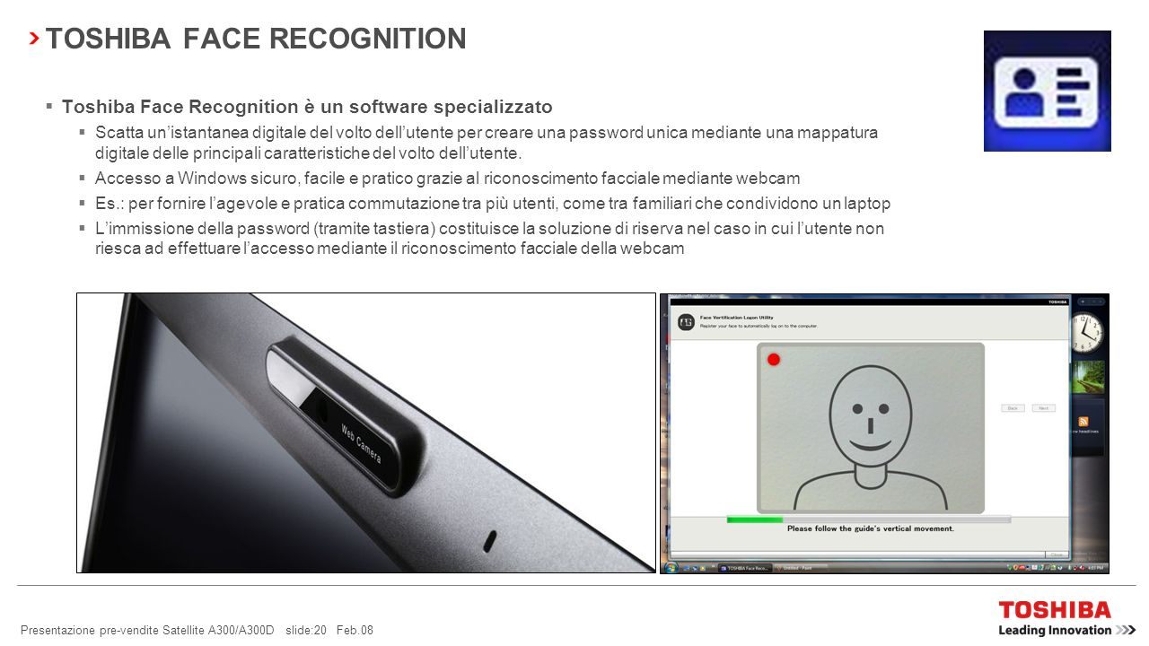 TOSHIBA FACE RECOGNITION