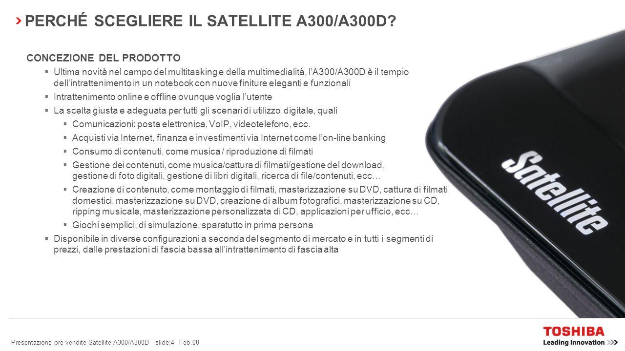 PERCHÉ SCEGLIERE IL SATELLITE A300/A300D