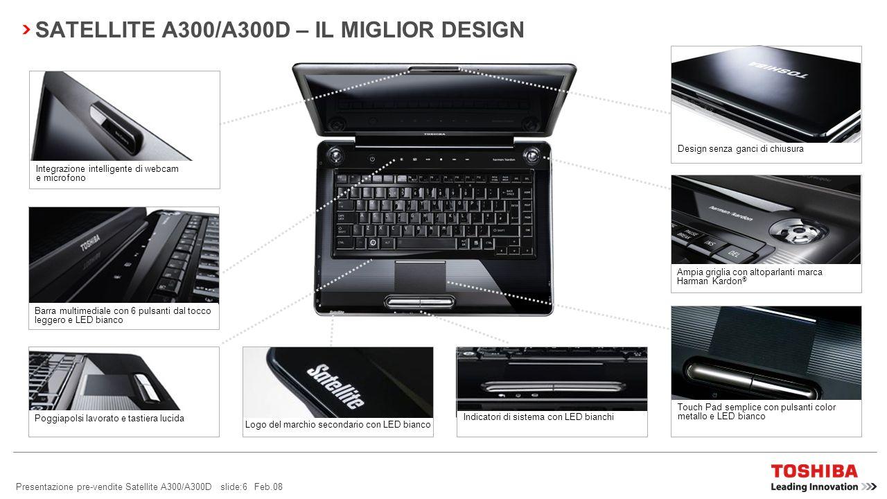 SATELLITE A300/A300D – IL MIGLIOR DESIGN