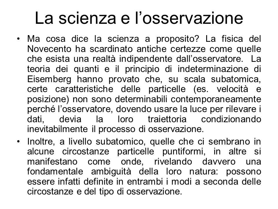 La scienza e l'osservazione