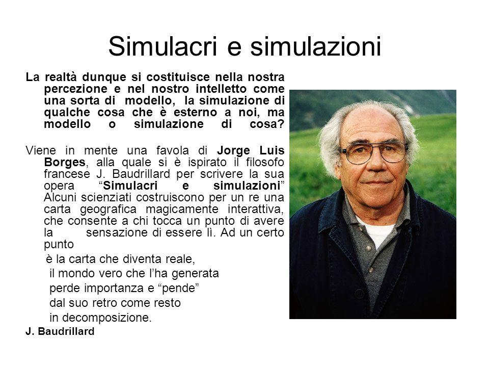Simulacri e simulazioni
