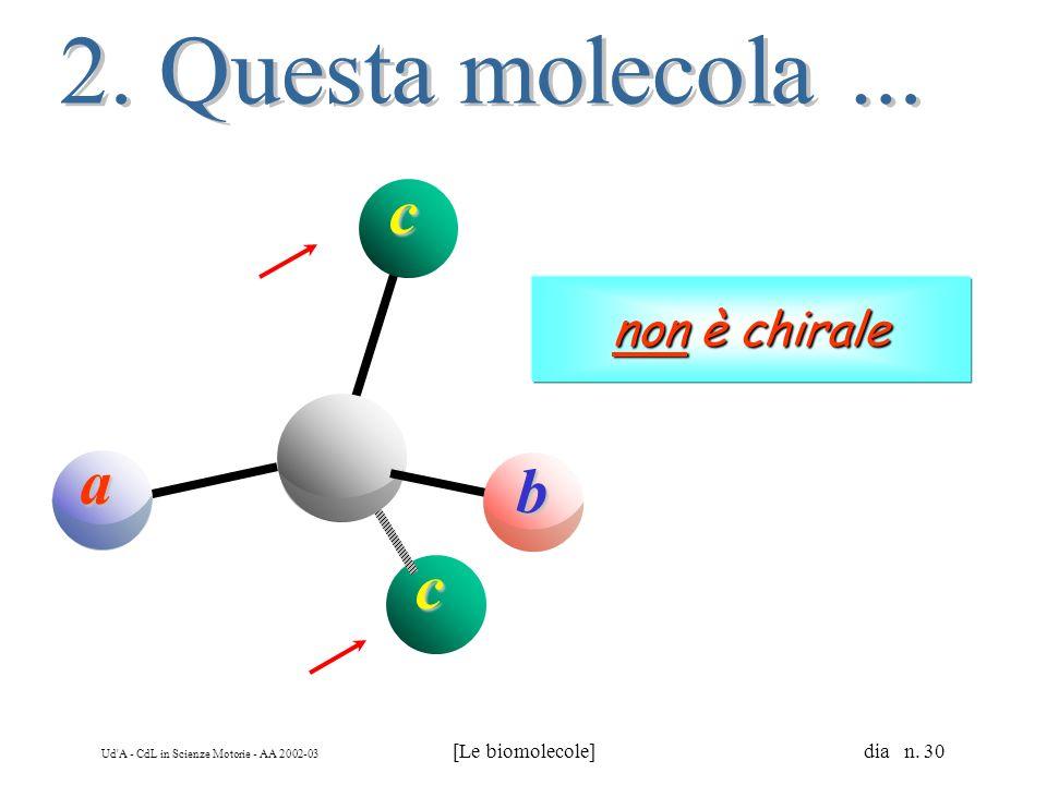 2. Questa molecola ... a b c non è chirale