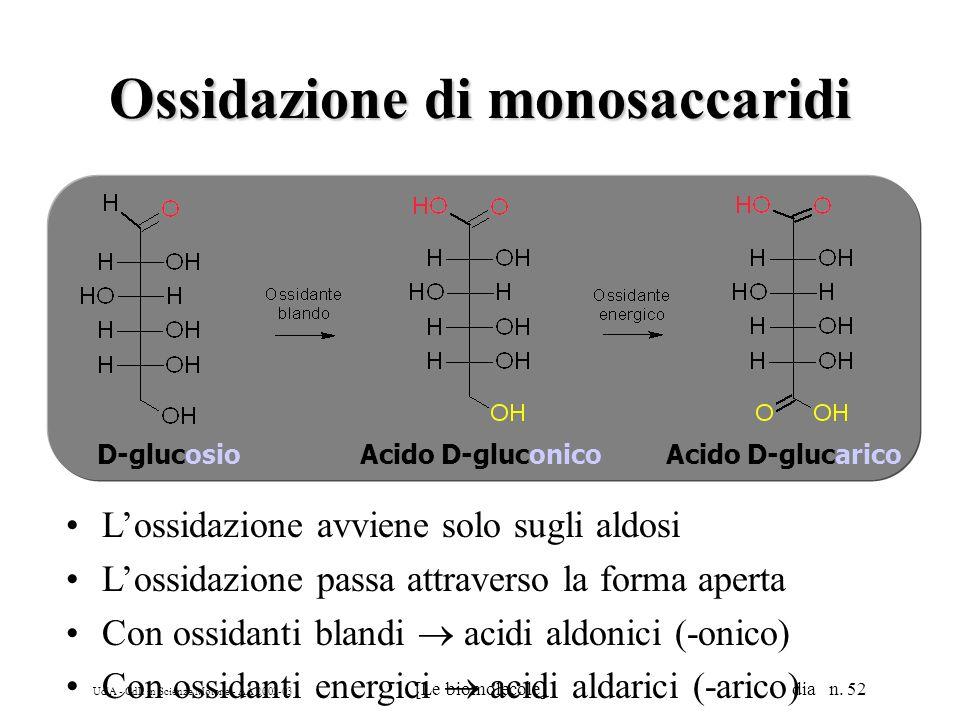 Ossidazione di monosaccaridi