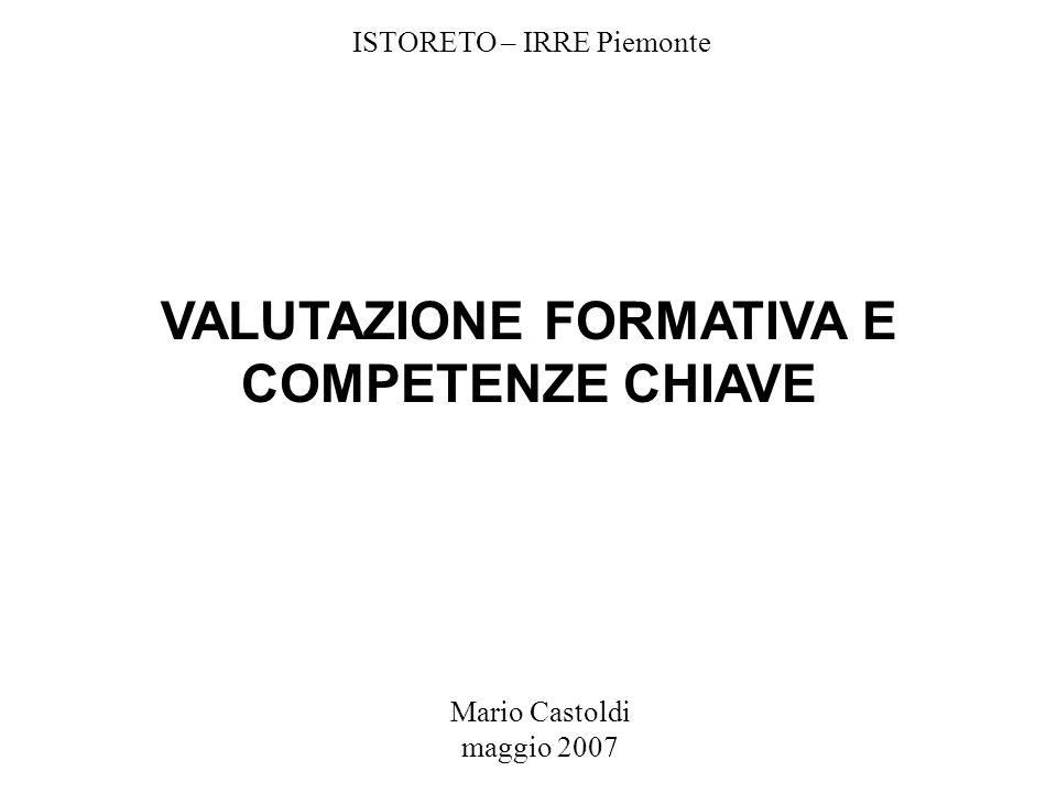 VALUTAZIONE FORMATIVA E COMPETENZE CHIAVE