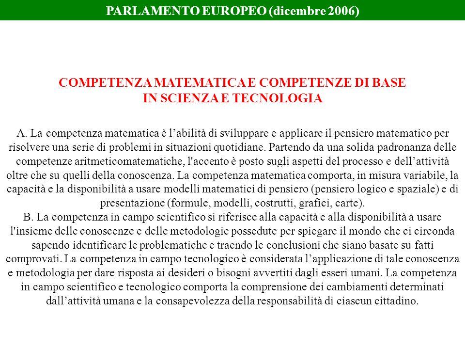 PARLAMENTO EUROPEO (dicembre 2006)