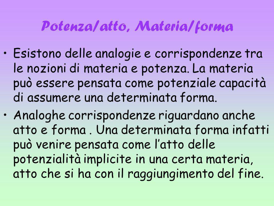 Potenza/atto, Materia/forma