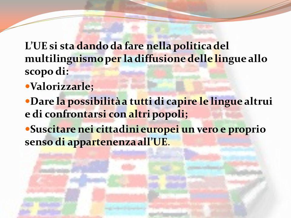L'UE si sta dando da fare nella politica del multilinguismo per la diffusione delle lingue allo scopo di: