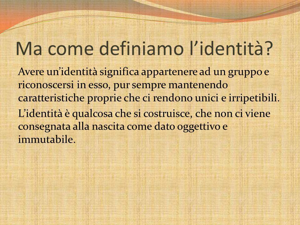 Ma come definiamo l'identità