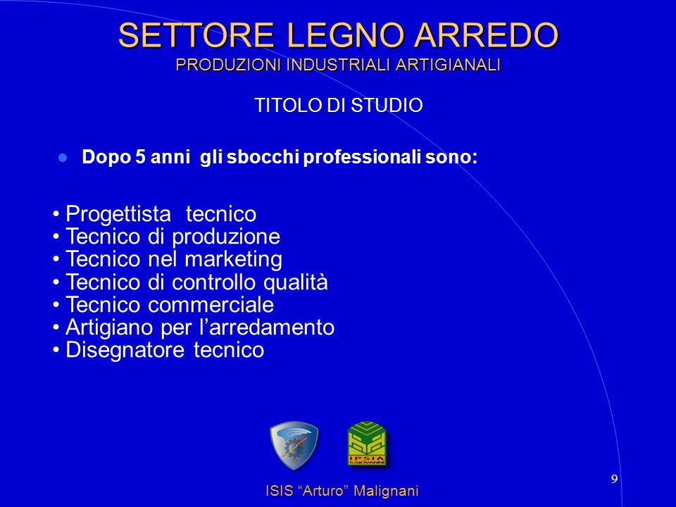 SETTORE LEGNO ARREDO PRODUZIONI INDUSTRIALI ARTIGIANALI