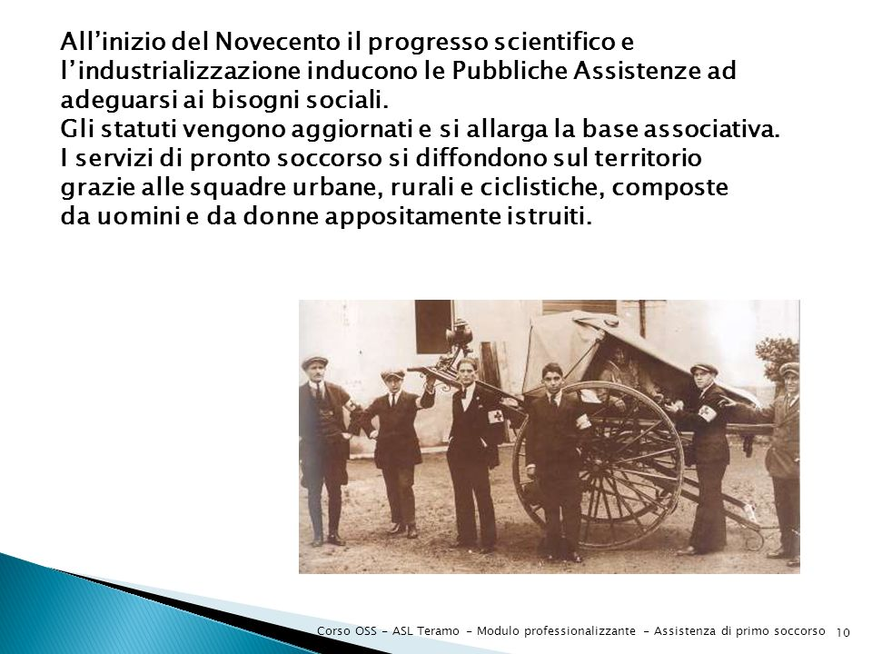 All'inizio del Novecento il progresso scientifico e