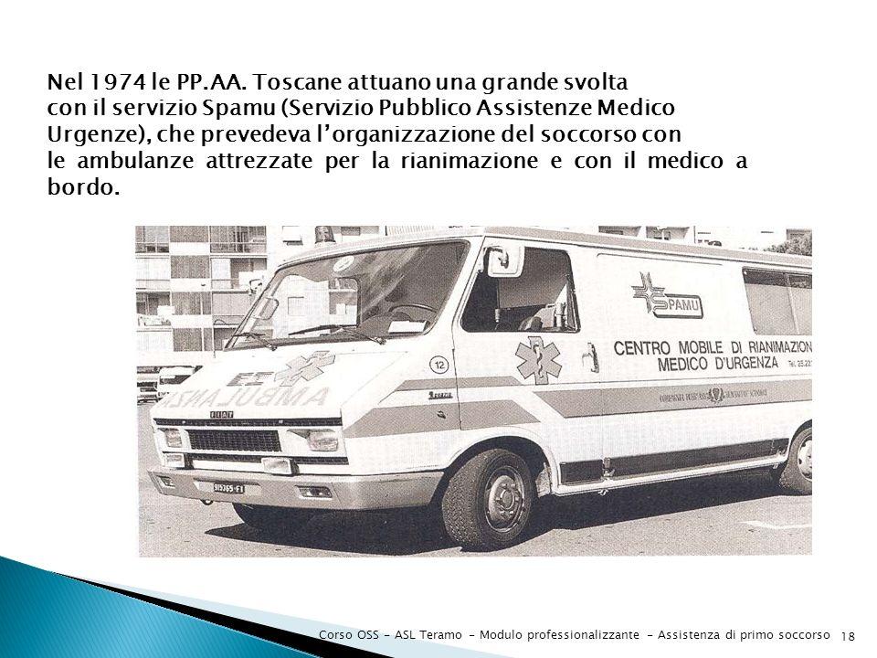 Nel 1974 le PP.AA. Toscane attuano una grande svolta