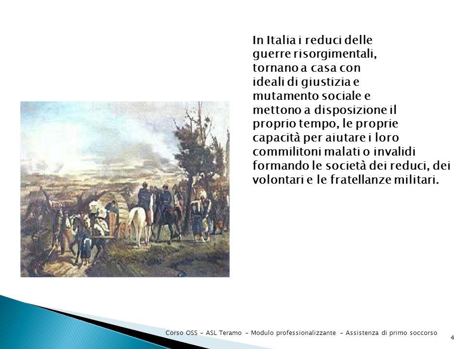 In Italia i reduci delle guerre risorgimentali, tornano a casa con