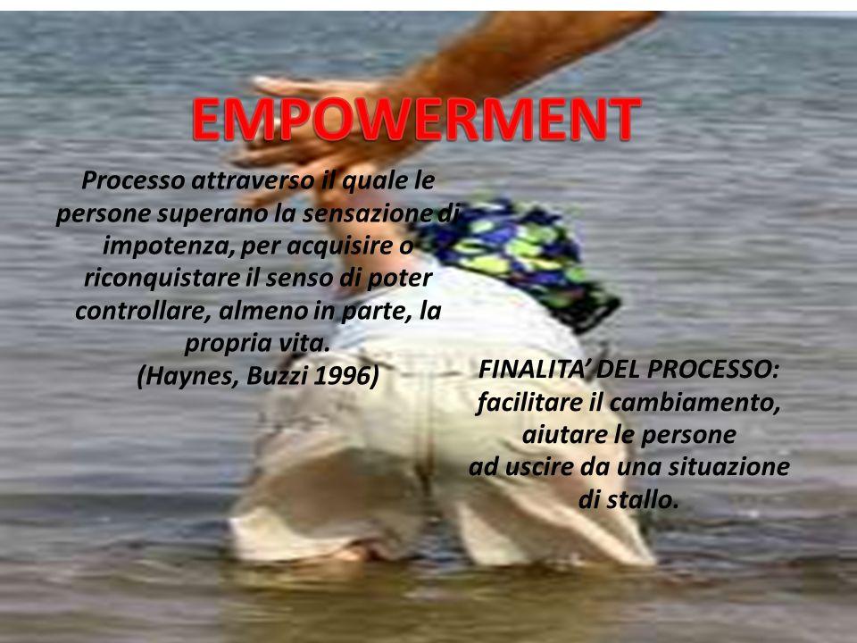 EMPOWERMENT Processo attraverso il quale le
