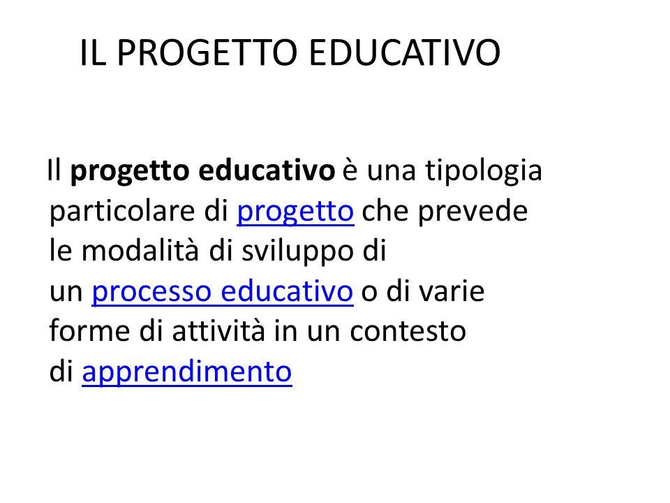 IL PROGETTO EDUCATIVO