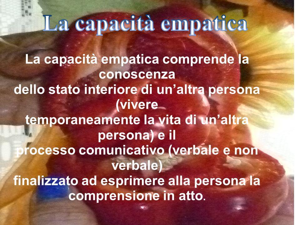 La capacità empatica La capacità empatica comprende la conoscenza