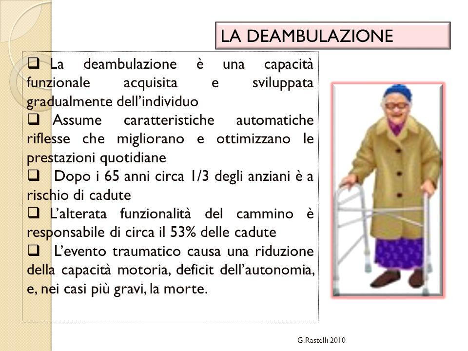 LA DEAMBULAZIONE La deambulazione è una capacità funzionale acquisita e sviluppata gradualmente dell'individuo.