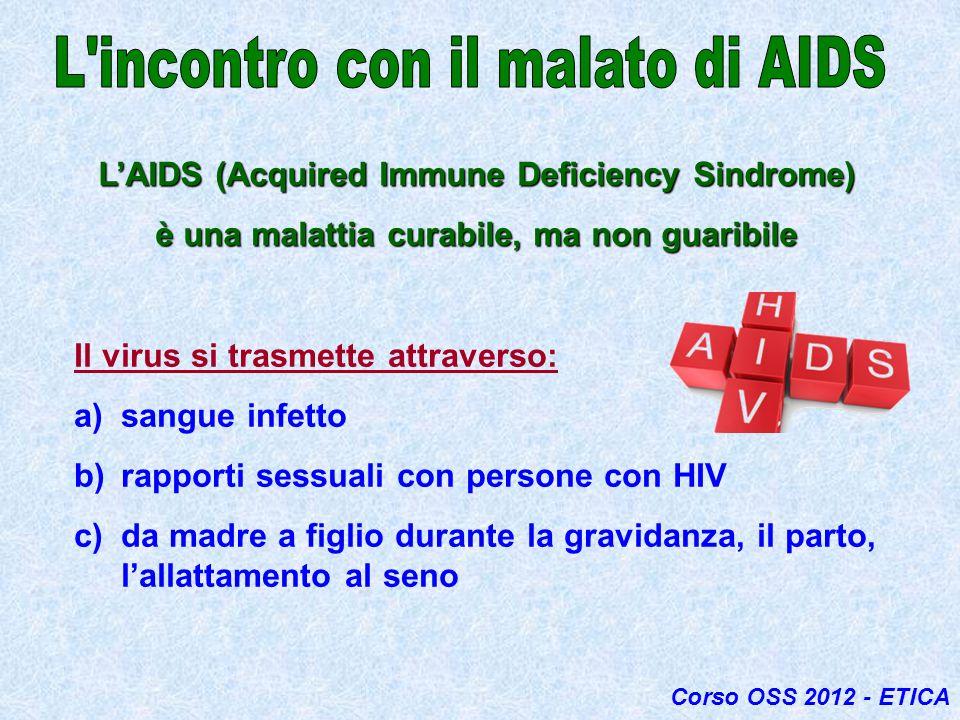 L incontro con il malato di AIDS