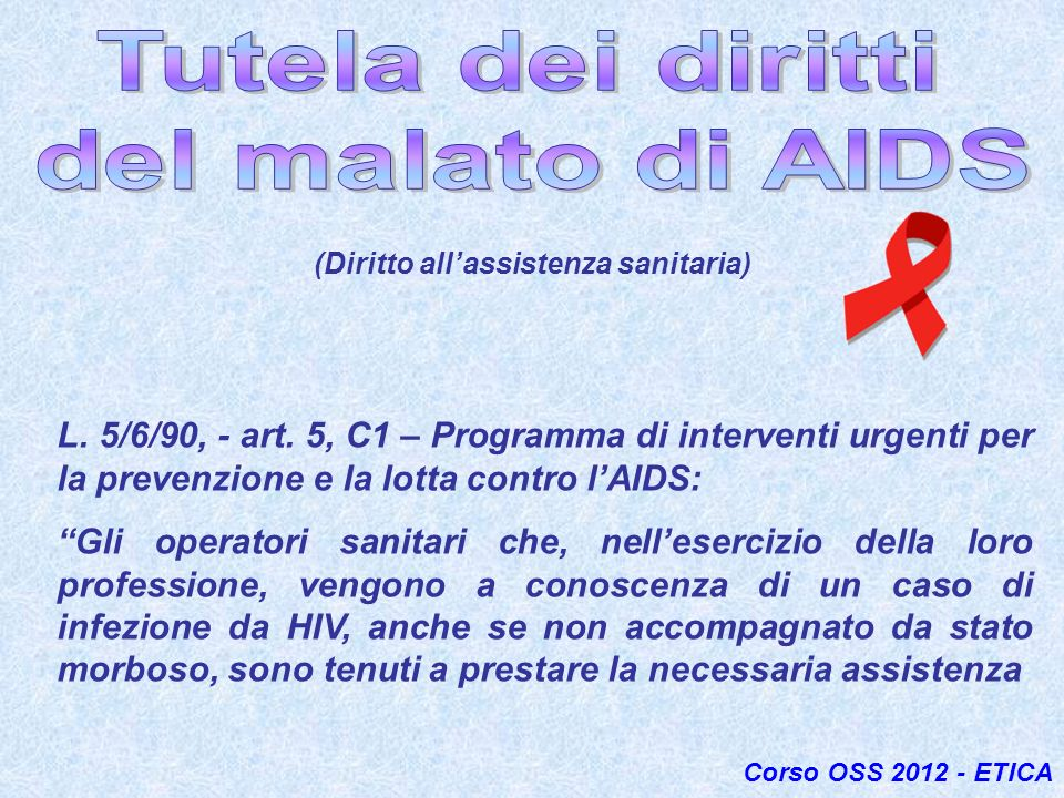 (Diritto all'assistenza sanitaria)