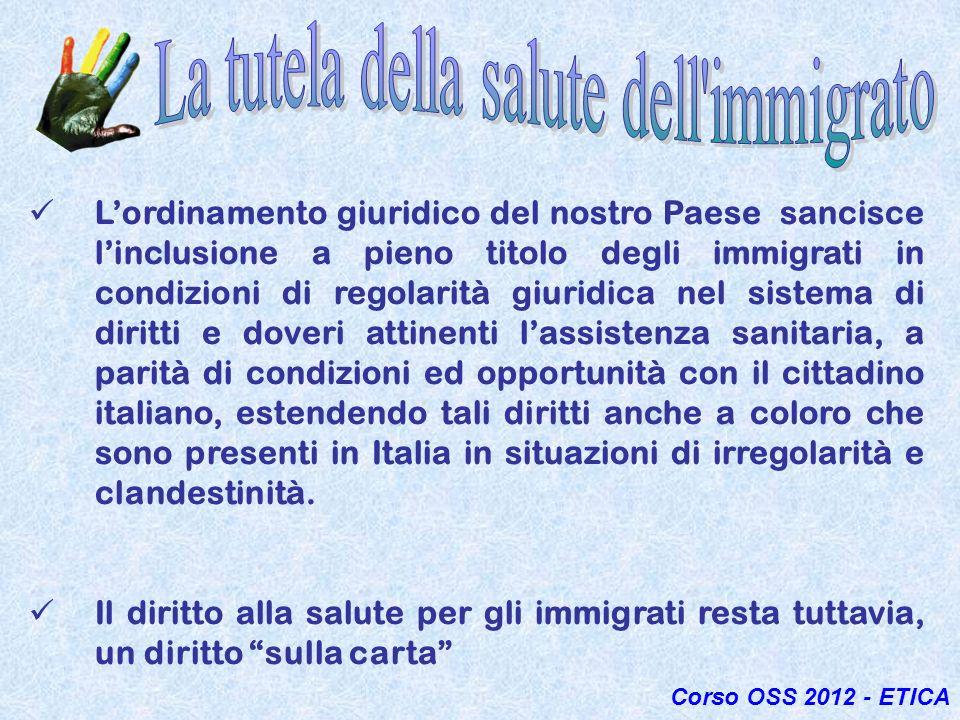 La tutela della salute dell immigrato