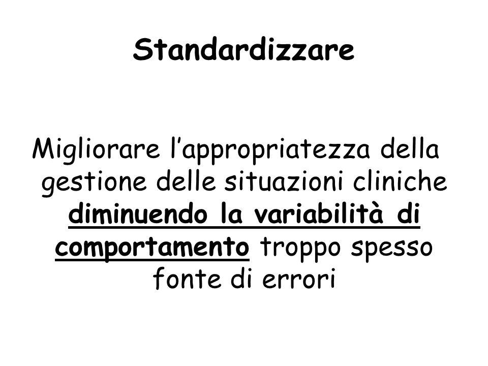 Standardizzare