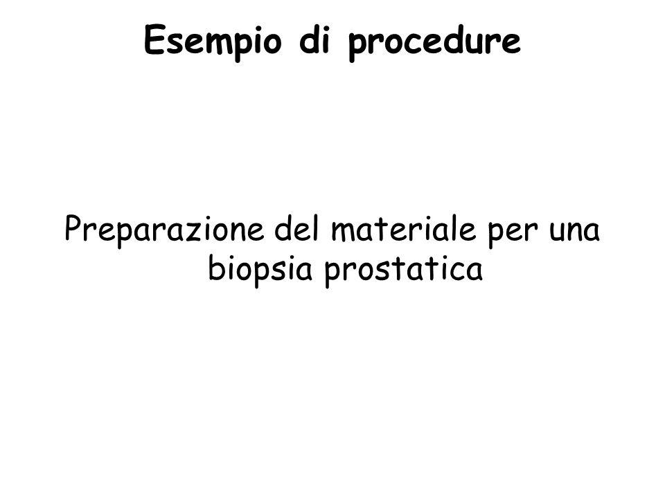 Preparazione del materiale per una biopsia prostatica