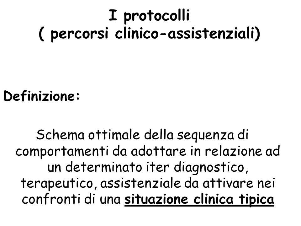 I protocolli ( percorsi clinico-assistenziali)