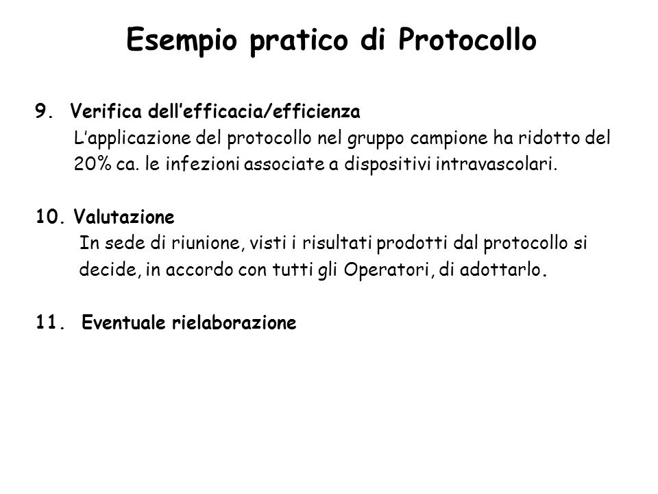 Esempio pratico di Protocollo