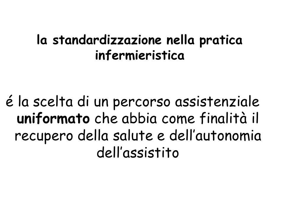 la standardizzazione nella pratica infermieristica