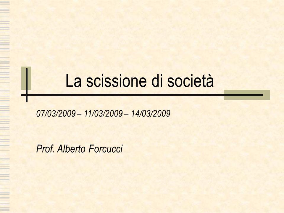 La scissione di società